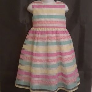 Blueberi Boulevard Ribbon Striped Dress - Size 6X